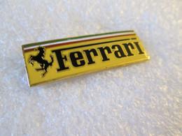 TOP PIN'S  LOGO   FERRARI  40X14mm  Email Grand Feu - Ferrari