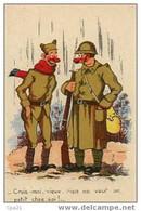 """CPA Humour Militaire 100/18 """"Crois-moi Vieux, Rien Ne Vaut Un Petit Chez Soi"""" - Humor"""