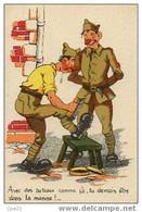 """CPA Humour Militaire 100/9 """"Avec Des Bateaux Comme çà, Tu Devrais être Dans La Marine"""" ... - Humor"""