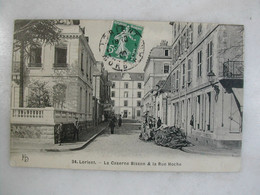 MILITARIA - LORIENT - La Caserne Bisson Et La Rue Hoche (animée) - Barracks