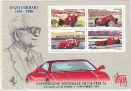 ITALIA REPUBBLICA 1998 FOGLIETTO ENZO FERRARI ITALIA 98 SASSONE N.20 MNH - 1991-00:  Nuovi