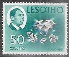 Lesotho 1969  Sc#57  50c Diamonds   MLH  Watermark 362  2016 Scott Value $14 - Lesotho (1966-...)