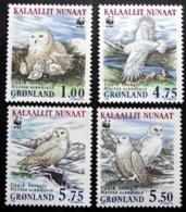 Greenland 1999   Snowy Owls  MiNr.331-34 X   MNH  (**)  ( Lot  F 1923 ) - Neufs