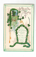 "POEM ""St. Patrick's Day Greetings. St. Patrick's Day Wishes..."", Pre-1915 Postcard, Canada - Saint-Patrick's Day"