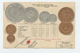 JAPAN - Numismatic Postcard - Set Of Coins - Embossed   (2 Scans) - Zonder Classificatie