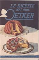 Pubblicità   Dott. Oetker  , Ricettario  - Pag. 59  -  Edit. E. Gundlach  A. G. Bielefeld - House & Kitchen