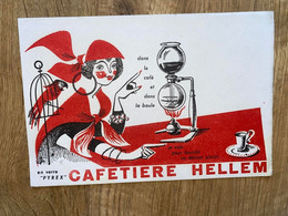 1 BUVARD CAFETIERE HELLEM - Koffie En Thee