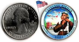 USA - Quarter Dollar - 2021 D (Tuskegee Airmen - Alabama - Color) - 2010-...: National Parks