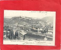 BESANCON . LA CITADELLE VUE DE BEAUREGARD ( Vue Sur La Gare ) DOS NON DIV AFFR AU VERSO LE 22-4-1902 . 2 SCANES - Besancon