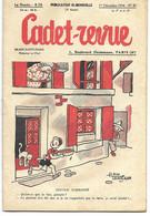 CADET-REVUE - Alain SAIT-OGAN - N°47 - 01/12/1934 - Bon état - BD - ZIG Et PUCE - Andere Tijdschriften