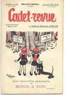 CADET-REVUE - Alain SAIT-OGAN - N°46 - 15/11/1934 - Bon état - BD - ZIG Et PUCE - Andere Tijdschriften