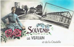 CPSM FRANCE 55 MEUSE VERDUN - Souvenir De Verdun Et De La Citadelle - Verdun