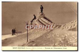 CPA Mont Ventoux Vaucluse Terrasse De L'Observatoire L'hiver - Andere Gemeenten