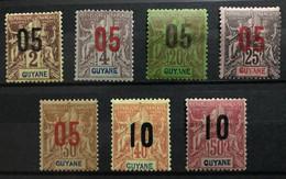 GUYANE 1912 - NEUF*/MH - Série Complète YT 66 / 72  - CV 15 EUR - Nuovi