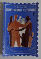 Journée Nationale Des Vieillards 24 Octobre 1965 Vignette Dans Sa Pochette Ill. De Villemot EXCELLENT ETAT - Autres