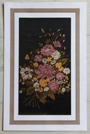 Soie Tissée Vivier-Merle & Denis - Le Tisserand Montée Sous Passe Nature Morte Bouquet De Fleurs - Rugs, Carpets & Tapestry