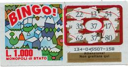 GRATTA E VINCI - Vincente 37 - BINGO - Billetes De Lotería