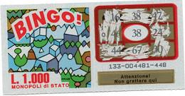 GRATTA E VINCI - Vincente 38 - BINGO - Billetes De Lotería