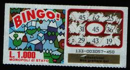 GRATTA E VINCI - Vincente 45 - BINGO - Billetes De Lotería