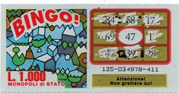 GRATTA E VINCI - Vincente 47 - BINGO - Billetes De Lotería