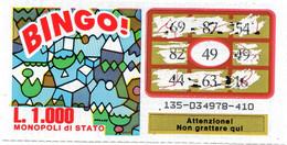 GRATTA E VINCI - Vincente 49 - BINGO - Billetes De Lotería