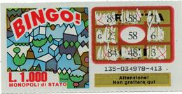 GRATTA E VINCI - Vincente 58 - BINGO - Billetes De Lotería