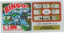 GRATTA E VINCI - Vincente 74 - BINGO - Billetes De Lotería