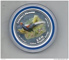 Iles Cook. 2 $. Faisans De Taiwan. Coffret Et Certificat - Cook Islands