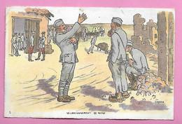 Lot De 8 CPA Illustration Signée GABARD ( Correspondance Militaire Hospitalisé A MILAN Italie En 1918 ) - Autres Illustrateurs