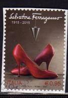 ITALIA REPUBBLICA ITALY REPUBLIC 2015 LE ECCELLENZE DEL SISTEMA PRODUTTIVO ED ECONOMICO SALVATORE FERRAGAMO USATO USED - 2011-...: Oblitérés