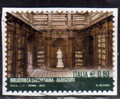 ITALIA REPUBBLICA ITALY REPUBLIC 2015 LE ECCELLENZE DEL SAPERE BIBLIOTHECA LUCCHESIANA AGRIGENTO USATO USED OBLITERE' - 2011-...: Oblitérés