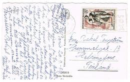 CPSM PARIS ADRESSEE EN FINLANDE - 1921-1960: Modern Period