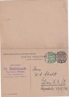 POLOGNE    1935  ENTIER POSTAL/GANZSACHE/POSTAL STATIONARY  CARTE AVEC REPONSE DE TUCHOLA - Stamped Stationery