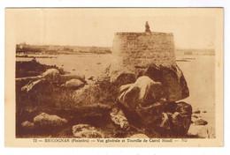 BRIGNOGAN  VUE GENERALE ET TOURELLE DE CASTEL HOUEL - Brignogan-Plage