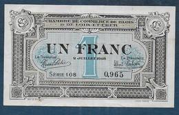 Chambre De Commerce De Blois - 1 Franc  - Pirot N° 11 - Cámara De Comercio