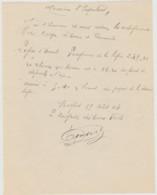 1904 BELFORT Essert Lettre Manuscrite Du Brigadier Des Eaux Et Forets à L'Inspecteur Coupe De Bois  Reperage Mesurage - Other Plans