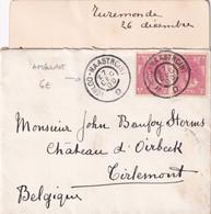 1900 - NEDERLAND - OBLITERATION AMBULANT VENLOO à MAASTRICHT Sur ENVELOPPE De TUREMONDE => TIRLEMONT (BELGIQUE) - Postal History