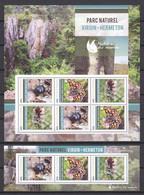 Burundi - MNH Set (10) Of 2 Sheets FLORIADE 2012 - NATIONAL PARKS BELGIUM -  FLOWERS - BEETLE - BUTTERFLY - Mariposas