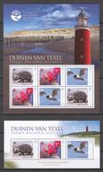 Guine Bissau - MNH Set (3) Of 2 Sheets FLORIADE 2012 - NATIONAL PARKS NETHERLANDS - BIRD - HEDGEHOG - FLOWERS - Autres
