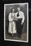 F461 Male And Female Couple Atelier Romania Traditional Port Sasi Transilvania - Fotografía
