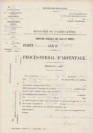 1910 BELFORT Forêt D' Essert Direction Générale Des Eaux Et Forêts Arpentage De La Coupe Forestier Garde Du Triage Plan - Other Plans