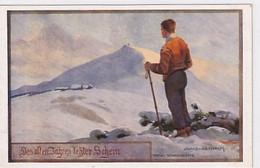 Des Alten Jahres Letzter Schein - Schneekoppe - Signiert      (A-310-201013) - Autres Illustrateurs