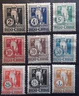 INDOCHINE TAXE Type Dragon 1908 - 1922 , 9 Timbres Yvert No 5 / 8,10,13, 31 / 33 , Neufs * MH TB Cote 20 Euros - Portomarken