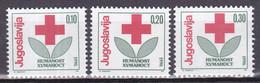 Joegoslavië 1990, Postfris MNH, Red Cross (12½ + 13¼) 2 Scans - Nuovi