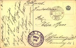 """1915, """"BAYER: FELDPOSTSTATION No. 17"""" Auf Karte Briefstempel """"Gebirgskanonien Batterie No. 3 - Bavaria"""