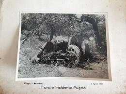 """10082-COPPA """"ACERBO""""-6 AGOSTO 1927-IL GRAVE INCIDENTE U. PUGNO-CASALE MONFERRATO-FOTO - Automobili"""