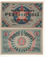 LATVIA  5 Rubli    PR3 1919 - Latvia