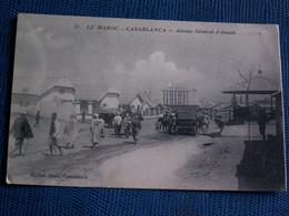 CPA  //     MAROC  --  CASABLANCA   -  AVENUE  GENERAL  D ' AMADE  1916 - Casablanca