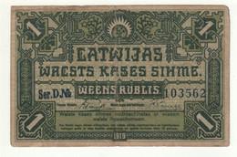 LATVIA  1 Rublis    P2   1919 - Latvia