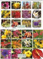 FLEURS - Ile De La Réunion -Rose Porcelaine Ibiscus Heliconia Bougainvillier Safran Flamboyant Frangipanier Azalee Canna - Fiori